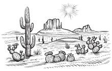 Desert Landscape Vector Illust...