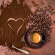tazzina di caffè espresso italiano