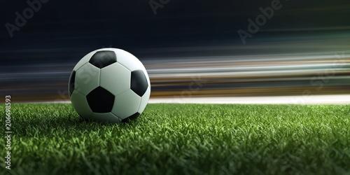 Fußball liegt auf Stadionrasen