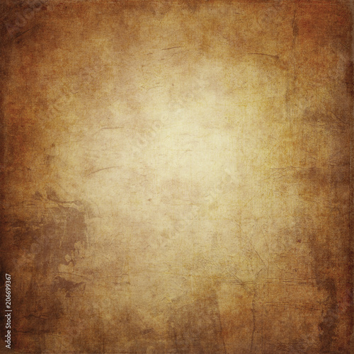 Fotografia Brown grunge background, paper texture, paint stains, stains, vintage