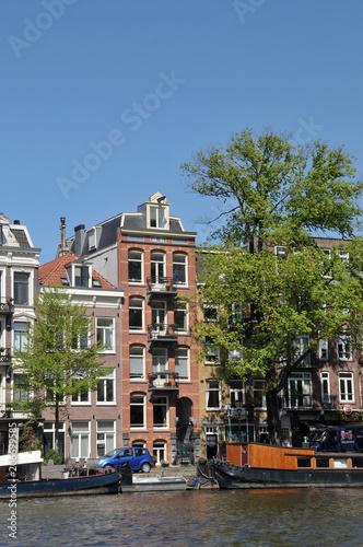 Photo  An einer Gracht in Amsterdam