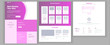 Main Web Page Design Vector. Website Business Style. Landing Template. Abstract Project Cover. Idea Structure. Financial Mining. Partner Option. Illustration