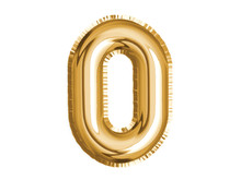 Gold Number Zero Air Balloon For Baby Shower Celebrate Decoration Party