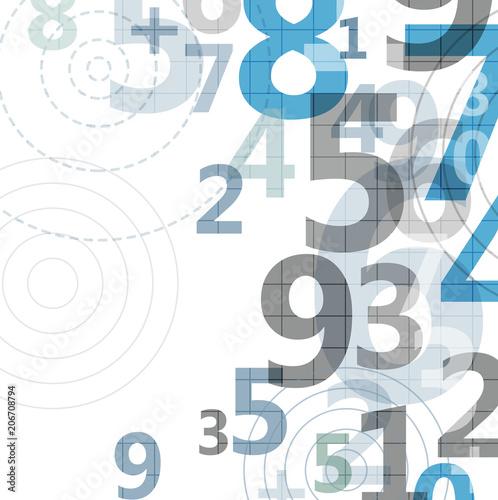 Fotografía  Mathematical digital code background