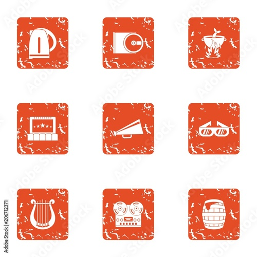 Fotografía  Notify icons set