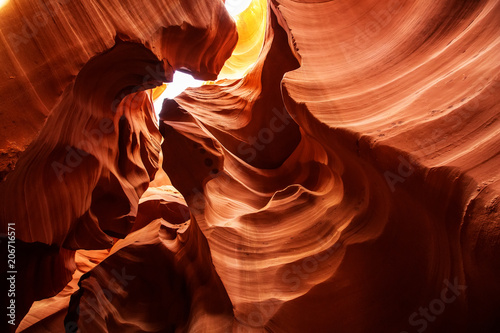 Tuinposter Canyon Real images of the lower Antelope canyon in Arizona, USA