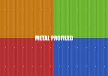 Vector Set Of Color Metal Prof...