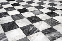 Black White Marble Floor - Abstract Concept Living Vintage Retro Room Fashion Material Style Home Feature Interior Apartment Structure Perspective Texture Home