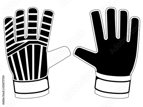 Isolated goalkeeper gloves icon Fototapete