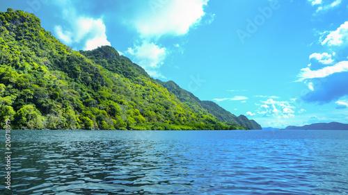 Green hills of Sangat Island, Palawan Province, Busuanga, Philippines Canvas Print