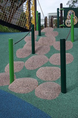 Playground slope obstacle