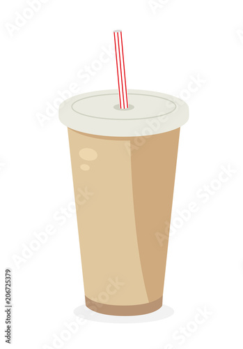 Keuken foto achterwand Milkshake Soda icon. Fastfood isolated. Sweet food and junk food concept. vector