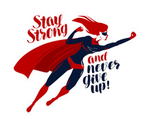 Supergirl, Superhero Flying Up...