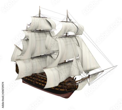 Sail Ship Isolated Canvas Print