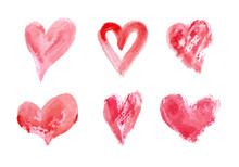 Hand Drawn Vector Heart Set Wi...