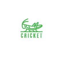 Logo Grasshopper, Cricket Insect Logo