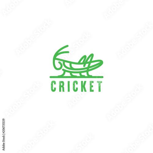 Logo Grasshopper, cricket insect logo Fototapeta