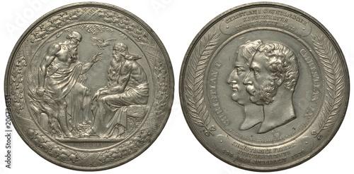 Photo  Denmark Danish medal 400th anniversary of Copenhagen University, Odin consults w