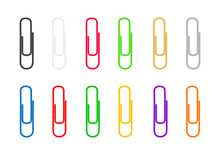Paper Clips Are Colored On Whi...