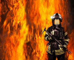 Strażak w ogniu