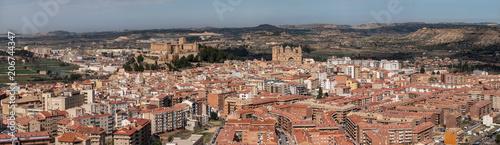 Cuadros en Lienzo Vista panorámica de Alcañiz, España.