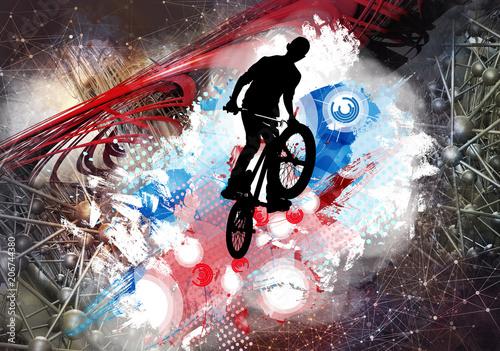 Illustration of bicycle jumper