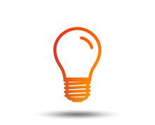 Light Bulb Icon. Lamp E27 Scre...