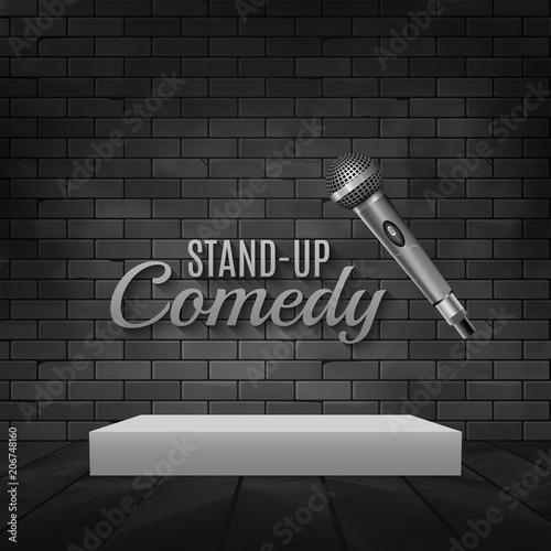 Fotografija  Stand up comedy event poster