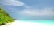 Tropical beach on Maldives island
