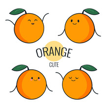 Funny Cartoon Orange Character...