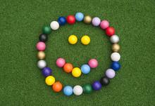 Mini Golf Ball Happy Face