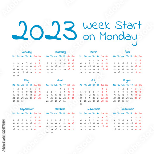 Fotografia  Simple 2023 year calendar