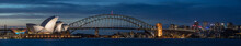 Sydney Harbour At Dusk, Sydney...