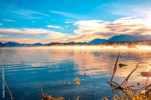 Poster Oceanië Autumn color of Lake Tekapo, New Zealand.
