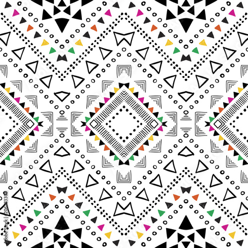 tribal geometric pattern ethnic seamless background bohemian design in aztec style chevron wallpaper buy this stock vector and explore similar vectors at adobe stock adobe stock tribal geometric pattern ethnic