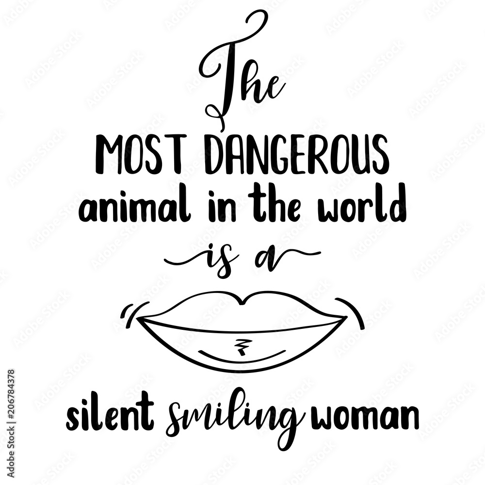 Funny hand drawn quote about woman Foto, Poster, Wandbilder bei ...