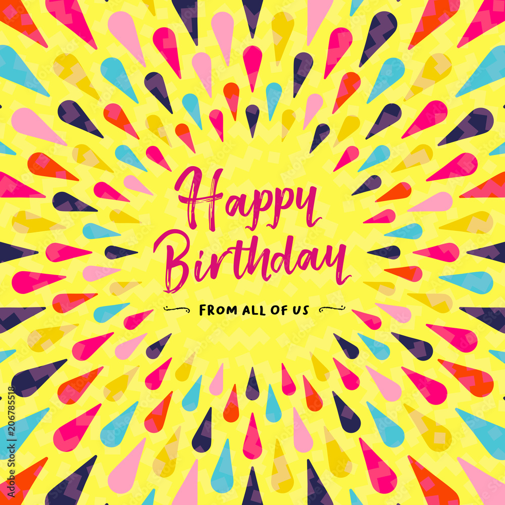 Happy Birthday Greeting Card Design For Party Foto Poster Wandbilder Bei EuroPosters