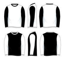 Black And White Long Sleeve Sh...