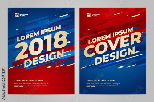 Fotomural Layout Template design for sport