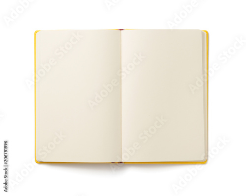 notebook isolated at white Wall mural