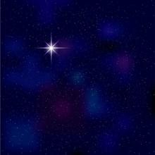 Night Sky,Polaris In Night Sky...