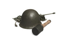 War Theme On Yellow Background (Clipping Path)