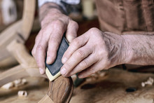 Carpenter Hands Sanding