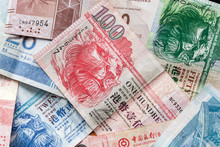 Hong Kong Dollars, Colorful Banknotes