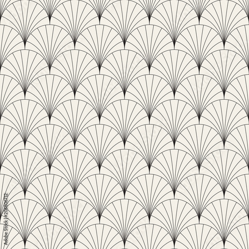 Naklejki do wnętrz  vector-seamless-vintage-pattern-of-overlapping-arcs-in-art-deco-style-modern-stylish-abstract