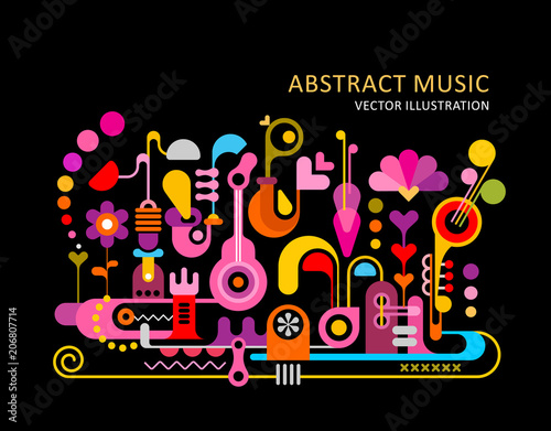 Fotoposter Abstractie Art Abstract Music Background