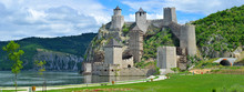 Panoramic View Of Golubac Fort...