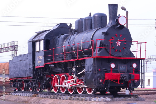 Fototapeta Old locomotive retired obraz na płótnie