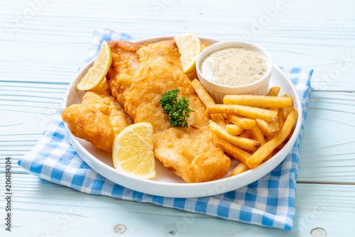 Slika na platnu fish and chips with french fries