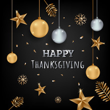 Happy Thanksgiving Background Card Vector